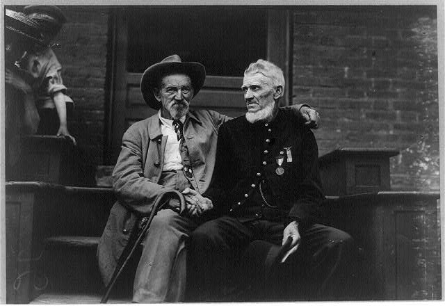 The Blue and the Gray at Gettysburg, Assembly Tent, Gettysburg Celebration, Pennsylvania. Credit: Library of Congress.
