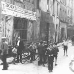 Shocking Paris-street scene in the Jewish Quarter of Paris
