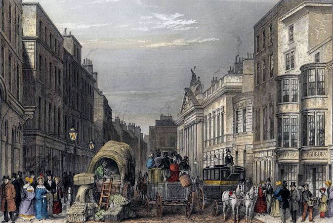 Leadenhall Street in Victorian London
