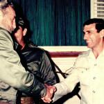 Juan Reinaldo Sanchez Shaking Fidel Castro's Hand